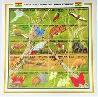 * Ghana 1990**Mi.1407-26  Fauna Of The African Rainforest ,MNH  1;69] - Sellos