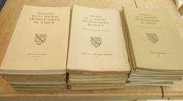 Lot De 45 Brochures. Annales De La Société Archéologique De Namur. De 1950 à 1994. Régionalisme. Archéologie - Archéologie