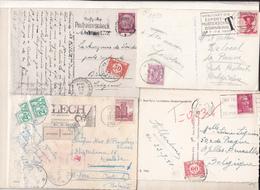 Belgique  Lot De  4  Cartes    Avec Taxe - Postage Due