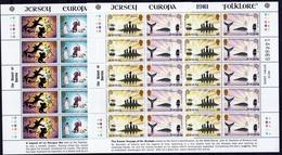 1981 Jersey EUROPA CEPT EUROPE 2 Minifogli MNH** 2 Minisheets - 1981