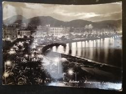 CARTOLINA ANTICA-SALERNO-LUNGOMARE-NOTTURNO-'900 - Cartoline