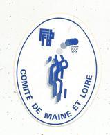 Autocollant , Sports , Basket , FFBB , Comité De MAINE ET LOIRE - Autocollants
