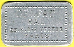 Jeton De Bal - DELFAU - Paris - Monétaires / De Nécessité