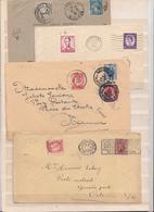 Belgique  Lot De  4   Enveloppes     Avec Taxe - Postage Due
