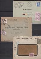 Belgique  Lot De  3   Enveloppes     Avec Taxe - Postage Due