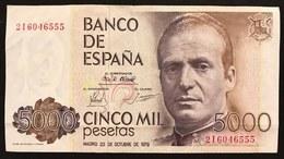 Spagna 5000 Pesetas 1979 Spl Circulated   LOTTO 837 - [ 3] 1936-1975 : Regime Di Franco