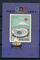 UNGHERIA 1964 - OLIMPIADI TOKIO 1964 - FOGLIETTO    - MNH ** - Estate 1964: Tokio