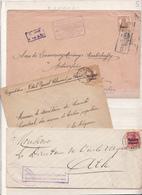 Belgique  Lot De  3   Enveloppes      Guerre 14/18 - WW I