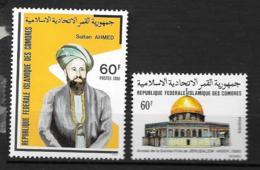 1980 - 327 à 328**MNH - Sultan Said Ali - Année De La Sainte Ville De Jérusalem - Comoros