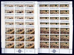 1981 Jugoslavia Yugoslavia EUROPA CEPT EUROPE 45 Serie Di 2v. MNH** In 10 Foglietti 10 Souvenir Sheets - 1981
