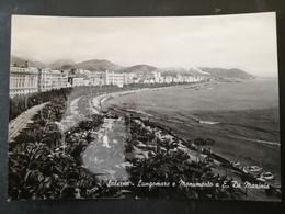 CARTOLINA ANTICA-SALERNO-LUNGOMARE E MONUMENTO A E. DE MARINIS-'900 - Cartoline