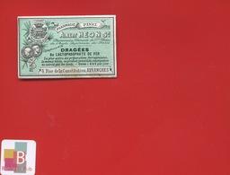 AVRANCHES Albert HEON PINEL Pharmacien  ETIQUETTE ANCIENNE PHARMACIE Rue De La Constitution CIRCA 1900 - Etiquettes