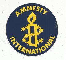 Autocollant , Politique , AMNESTY INTERNATIONAL - Autocollants