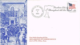 33419. Carta PHILADELPHIA (PA) 1980. Proclamation Independence 1776 - Estados Unidos