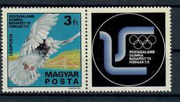 UNGHERIA 1975 - OLIMPIADI DEI PICCIONI VIAGGIATORI - FAUNA UCCELLI   - MNH ** - Giochi Olimpici