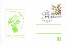 33420. Tarjeta ZILINA (Checoslovaquia) 1990. SCOUT. IV Junacky Snem - Lettres & Documents