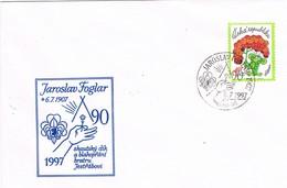 33421. Carta JAROSLAV (Republica Checa) 1997. SCOUT. 90 Aniversario Jaroslav Foglar - República Checa