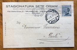 STAGIONATURA SETE ORIANI  MILANO 4/1/1930 CARTOLINA PUBBLICITARIA - Werbepostkarten