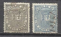 110-SERIE COMPLETA 1874 IMPUESTO GUERRA Nº141/2 USADOS,ESCUDO ESPAÑA.CLASSIC - 1873-74 Regencia