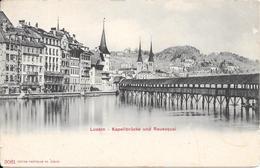 Kappelbrücke Und Reussquai. (Voir Commentaires) - LU Lucerne