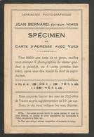 EDITEUR DE CARTES POSTALES - IMPRIMERIE PHOTOGRAPHIQUE - JEAN BERNARD,EDITEUR - NIMES - Nîmes