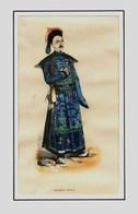 Lithographie De PANNEMAKER -  MANDARIN  CHINOIS   - Aquarellée à La Main Fin 19éme - 4   Chine - Lithographies