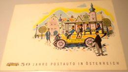 AUSTRIA 1957: Michel-No.1034 Auf Bild-PK CPI 50 JAHRE POSTAUTO IN ÖSTERREICH O IMST/TIROL 16.6.1957 - Bussen