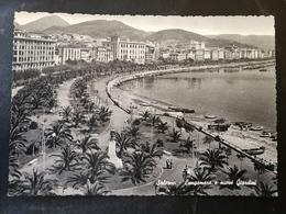 CARTOLINA ANTICA-SALERNO-LUNGOMARE E NUOVI GIARDINI-'900 - Cartoline
