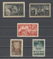 POLOGNE.   YT  N° 461---467  Neuf *  1945-46 - 1944-.... República