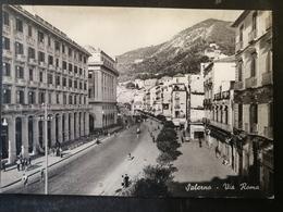 CARTOLINA ANTICA-SALERNO-VIA ROMA-'900 - Cartoline