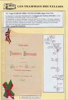 """Belgique - Les Tramways Bruxellois : Horaire De La Ligne """"Gare Du Midi - Uccle Globe"""" (Ligne 9, 1896). Explicatif Joint. - Europe"""