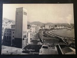 CARTOLINA ANTICA-SALERNO-PALAZZO DELLA PREFETTURA E LUNGOMARE-'900 - Cartoline