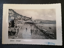 CARTOLINA ANTICA-SALERNO-SPIAGGIA-'900 - Postales