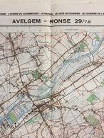 TOPOGRAFISCHE KAART / STAFKAART / CARTE D'ETAT MAJOR AVELGEM - RONSE 29/7-8 - 1/25.000 M834 - 1977 - Cartes Topographiques