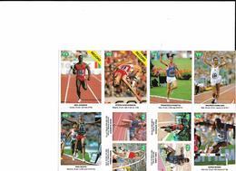 7-FIGURINE ADESIVE CAMPIONI ATLETICA ANNI 90-VEDERE DESCRIZIONE. - Altre Collezioni