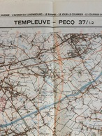 TOPOGRAFISCHE KAART / STAFKAART / CARTE D'ETAT MAJOR TEMPLEUVE - PECQ 37/1-2 - 1/25.000 M834 - 1978 - Cartes Topographiques