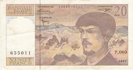 FRANCE  --  20 FRANCS 1997 - 20 F 1980-1997 ''Debussy''