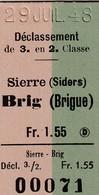 1948 SIERRE BRIG - Europa