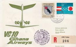 Liechtenstein Cover Sent To Accra With First Jet Flight - Liechtenstein