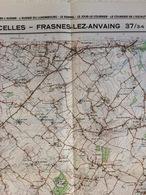 TOPOGRAFISCHE KAART / STAFKAART / CARTE D'ETAT MAJOR CELLES - FRASNES-LEZ-ANVAING 37/3-4 - 1/25.000 M834 - 1978 - Cartes Topographiques