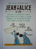 """WAVRE / JEAN ET ALICE - LE JEU / Resto """"LE SCIEVELAVABO - Wavre"""