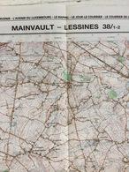 TOPOGRAFISCHE KAART / STAFKAART / CARTE D'ETAT MAJOR MAINVAULT - LESSINES 38/1-2 - 1/25.000 M834 - 1992 - Cartes Topographiques