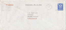 UAE Dubai Cover Sent Air Mail To Denmark 13-9-1976 Single Franked - Dubai