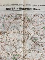 TOPOGRAFISCHE KAART / STAFKAART / CARTE D'ETAT MAJOR BEVER - ENGHIEN 38/3-4 - 1/25.000 M834 - 1993 - Cartes Topographiques