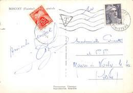PIE.E.19-8542 : CARTE DE ROSCOFF TAXEE 10 F  LE 27 JUILLET 1954. - Lettres Taxées