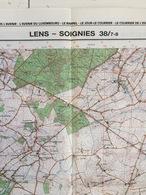 TOPOGRAFISCHE KAART / STAFKAART / CARTE D'ETAT MAJOR LENS - SOIGNIES 38/7-8 - 1/25.000 M834 - 1992 - Cartes Topographiques