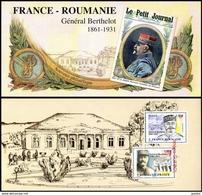 Bloc Souvenir 150 - France Roumanie - Général Berthelot - Blocs Souvenir
