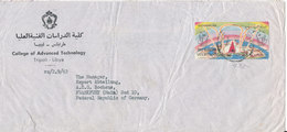 Libya Air Mail Cover Sent To Germany 6-7-1963 Single Stamped (there Is A Tear At The Bottom Of The Cover) - Libya