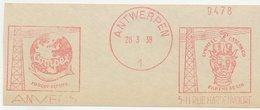 Meter Cut Belgium 1938 Linseed Meal - Fish - Salmon - Ox Head - Globe - Food