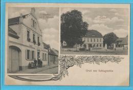 Grub Aus Schlagenthin - Allemagne - 2 Vues - Gasthof Von C Schmidt , Gutshof - Genthin